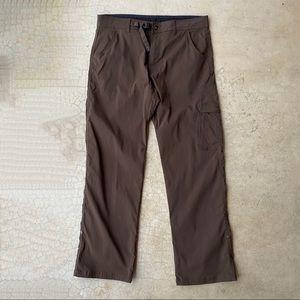 Prana Men's Zion Brown Stretch Hiking Cargo Pants